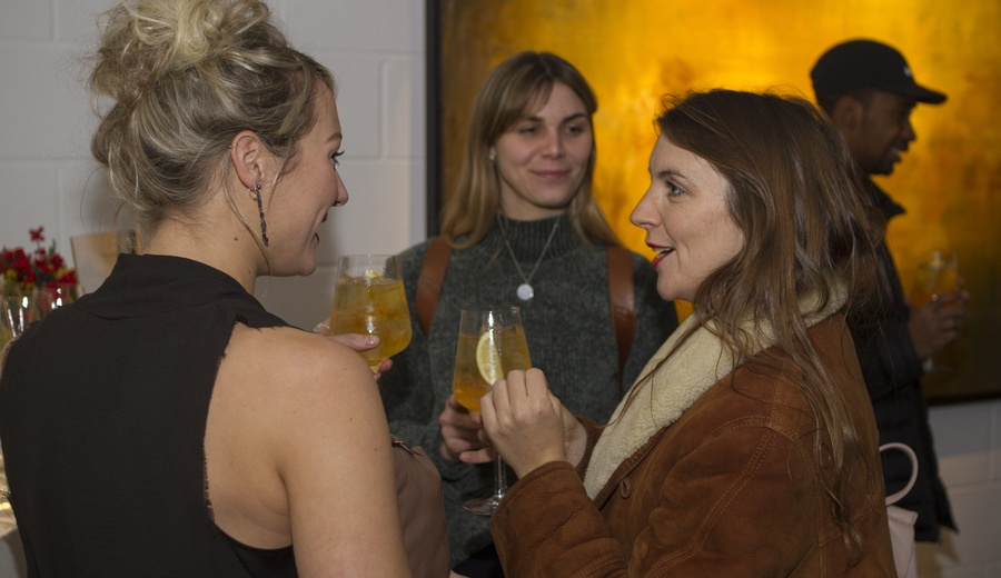 Collectors and admirers come together for the opening of 'Transitions' at Unit London.
